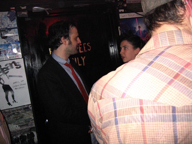 David Berman chatting with fans after the show
